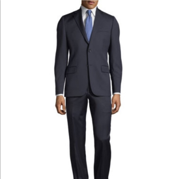 Hickey Freeman Other - Hickey Freeman Two-Button Wool Suit, Dark Navy 40R